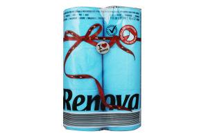 Бумага туалетная Renova Red Label голубая