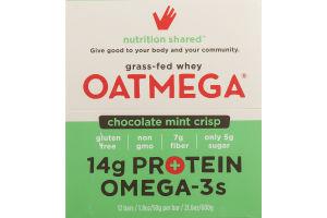 Oatmega Grass-Fed Whey Bars Chocolate Chip Mint Crisp - 12 CT