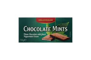 Шоколад чорний з мятною кремовою начинкою MILLENNIUM 200 г