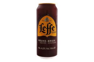 Пиво 0.5л 6.5% темное пастеризованное Bruin Leffe ж/б