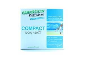 Стиральный порошок д/белой одежды компакт Professional Green&Clean 1КГ