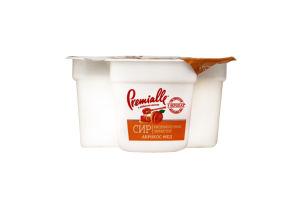 Сир кисломолочний 7% зернистий Абрикос-мед Premialle п/у 150г