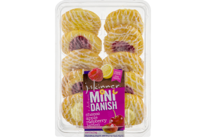 J. Skinner Mini Danish Cheese, Apple, Raspberry, Lemon, Cherry - 10 CT