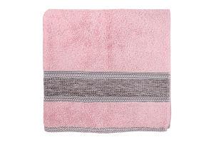 Рушник махровий рожевий 70х130см №ТР000001786 Fluffy Saffran 1шт