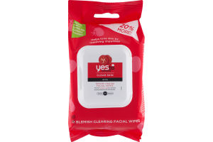 Yes To Tomatoes Clear Skin Blemish Cearing Facial Wipes - 30 CT