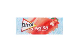 Гумка жувальна без цукру Полунична свіжість X-Fresh Dirol к/у 18г