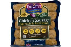 Thin'n Trim Chicken Sausage Spinach & Red Onion