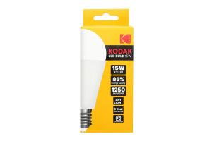 Лампа KODAK A60 E27 15W 220V Нейт.Біл. 4100K Мат. н/Дим.