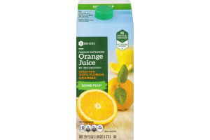 SE Grocers Juice Orange Some Pulp