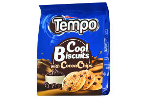 Печиво з шматочками шоколаду Cool Biscuits Tempo Ülker м/у 100г