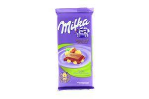 Шоколад Kraft Milka с целым лесным орехом 95г
