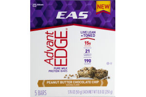EAS Advant Edge Protein Bars Peanut Butter Chocolate Chip - 5 CT