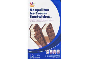 Ahold Neapolitan Ice Cream Sandwiches - 12 CT
