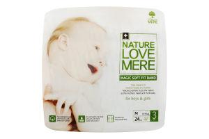 Подгузники для детей размер 3 6-9кг Magic soft fit band NatureLoveMere 24шт