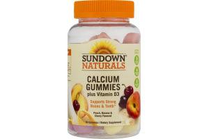 Sundown Naturals Calcium Gummies plus Vitamin D3 - 50 CT