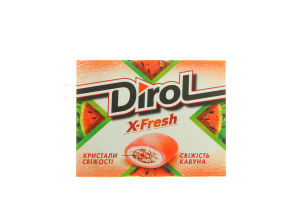 Жув.гумка Dirol X-Fresh Свіжість кавуна 18г х12