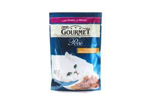 Корм влажный для кошек мини-филе с уткой Perle Gourmet м/у 85г