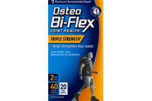 Osteo Bi-Flex Joint Health Triple Strength Dietary Supplement - 40 CT