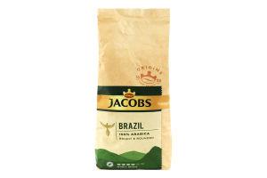 Кофе натуральный жареный в зернах Brazil Jacobs м/у 1кг