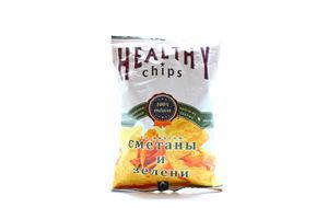 Чипсы из лаваша со вкусом сметаны и зелени Healthy chips м/у 100г