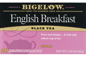 Bigelow Black Tea English Breakfast - 20 CT