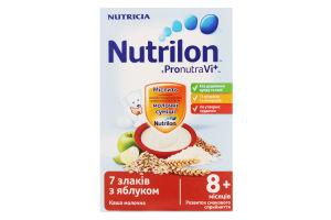 Каша Nutricia Nutrilon молочна 7 злаків з яблуком 225г х14