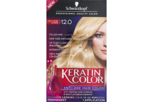 Schwarzkopf Keratin Color Permanent Anti-Age Hair Color 12.0 Light Pearl Blonde