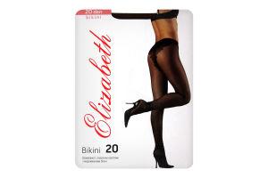Колготки женские Elizabeth Bikini 20 nero р.4