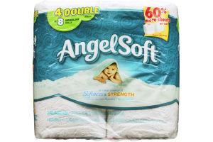 Angel Soft Bathroom Tissue Softness & Strength - 4 CT