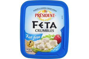 President Fat Free Feta Cheese Crumbles