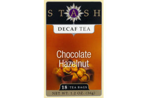 Stash Decaf Chocolate Hazelnut Tea - 18 CT