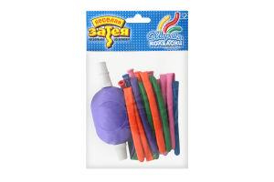 Кульки надувні для моделювання з насосом №1111-0120 Веселая затея 10шт