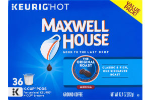 Maxwell House Medium Ground Coffee Keurig Hot K-Cup Pods - 36 CT