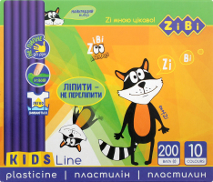 Набір пластиліну 10 кольорів №ZB.6210 Kids Line Zibi 1шт