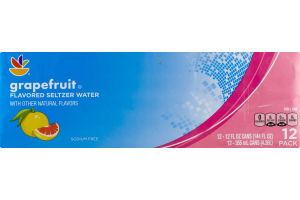 Ahold Flavored Seltzer Water Grapefruit