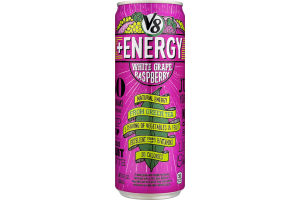 V8 + Energy Juice Drink White Grape Raspberry