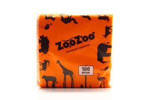 Серветки паперові ZooZoo 1шар 24*23см 100шт х12