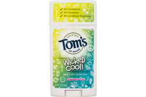 Tom's Of Maine Wicked Cool! Deodorant For Girls Summer Fun