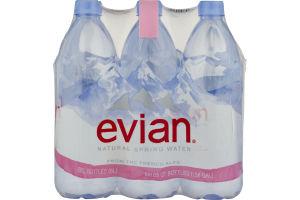 evian Natural Spring Water - 6 CT