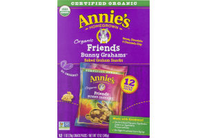 Annie's Homegrown Friends Bunny Grahams Organic Baked Graham Snacks - 12 CT