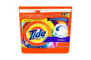 Средство моющее синтетическое жидкое в растворимых капсулах Color Tide 60х22.8г