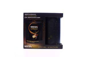 Кава Nescafe Espresso розчинна 140г +контейнер для кави х5