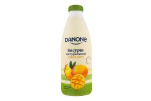 Йогурт 1.5% натуральный Ананас-манго Danone п/бут 800г