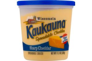 Kaukauna Wisconsin Spreadable Cheese Sharp Cheddar