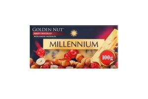 Шоколад білий з цілими лісовими горіхами Golden Nut Millennium к/у 100г