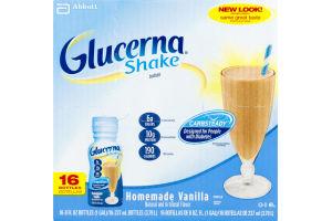 Glucerna Shake Homemade Vanilla - 16 CT
