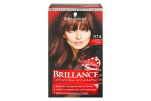 Крем-фарба для волосся Бархатистий каштан №874 Brillance