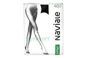 Колготки жіночі Naviale Support №1008 40den 1/2 nero
