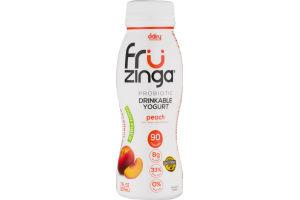 Dairy Innovations Fru Zinga Probiotic Drinkable Yogurt Peach