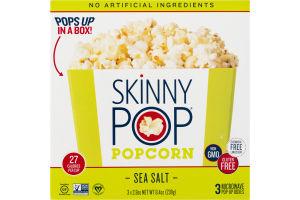 Skinny Pop Popcorn Sea Salt Microwave Pop-Up Boxes - 3 CT